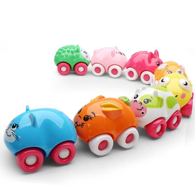 爱亲亲 磁性动物卡通车 婴幼儿早教益智启蒙玩具 1318