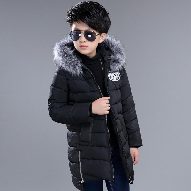 布奇酷童装 冬装儿童棉衣加厚保暖外套韩版中大童男装图片