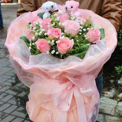 五二零 生日鮮花速遞全國 11朵紅玫瑰花束預定 愛情鮮花女朋友 北京廣州重慶深圳武漢濟南成都上海花店同城送花上門