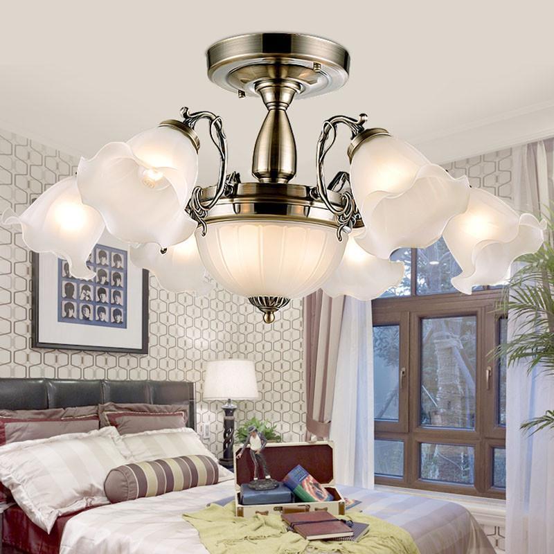 伦灯灯饰 欧式吸顶灯卧室灯田园温馨现代简约 客厅灯