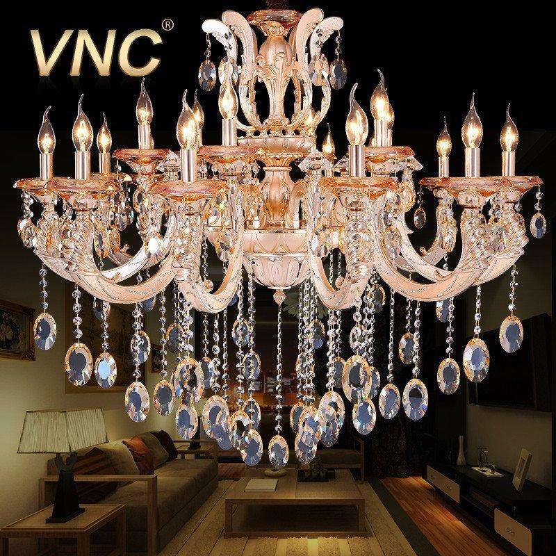 vnc 欧式吊灯 锌合金水晶灯 客厅灯饰 豪华餐厅灯具 d