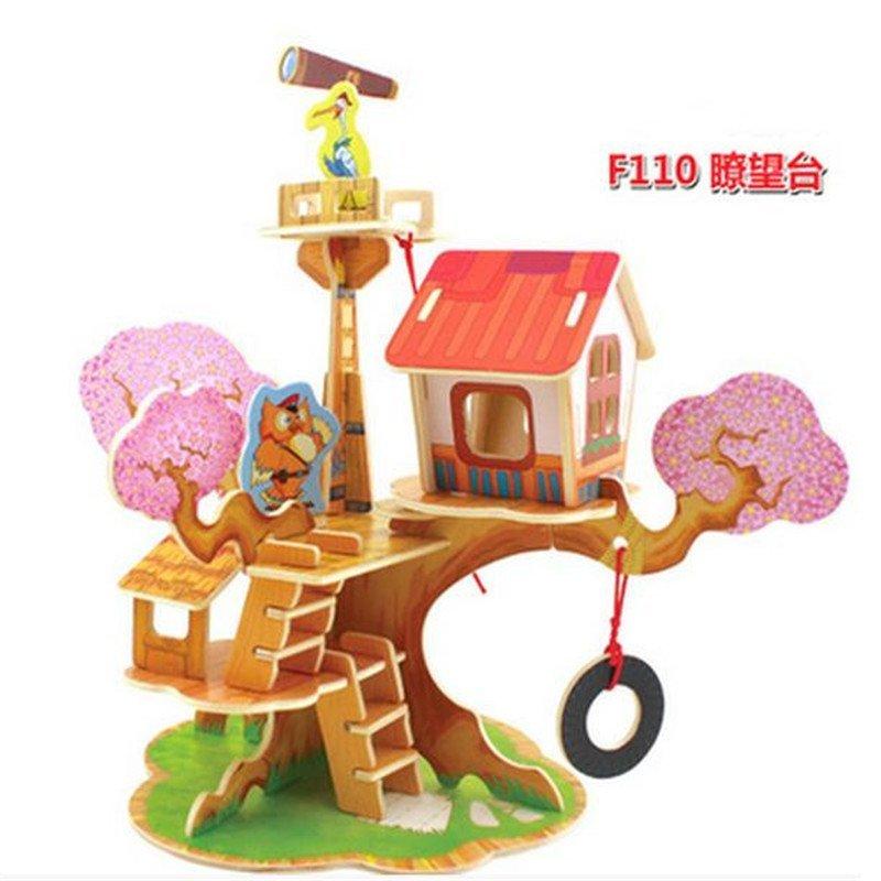幼儿园手工拼装木头拼插3