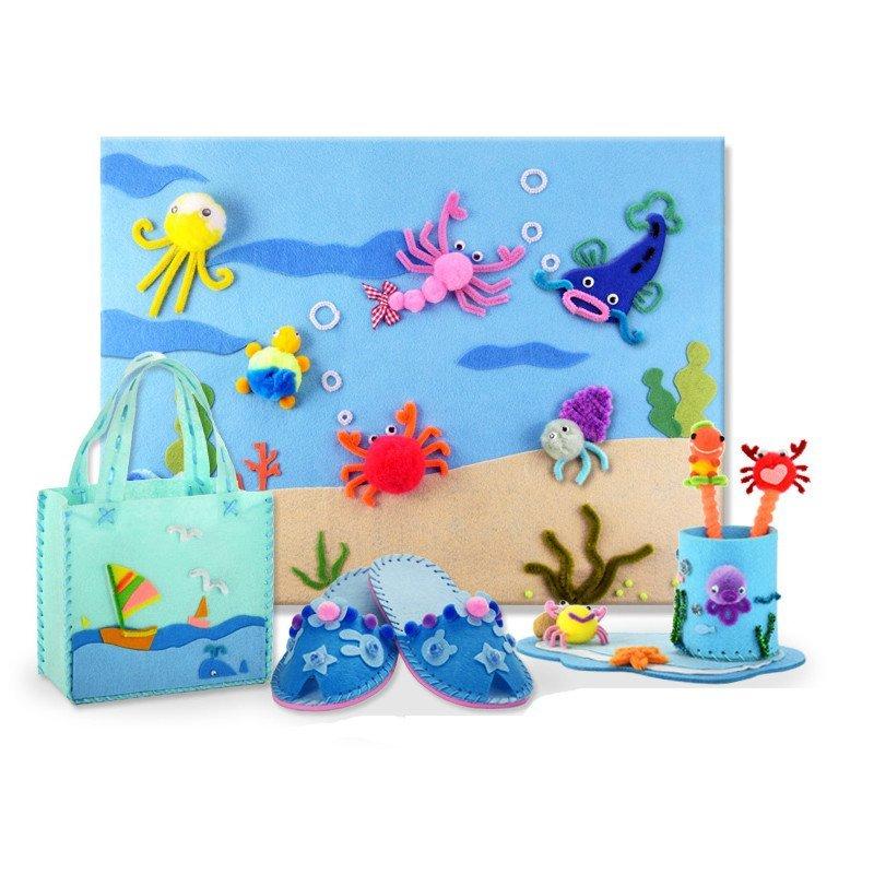 海洋系列diy手工玩具套装材料包 幼儿园奖品儿童节日礼物