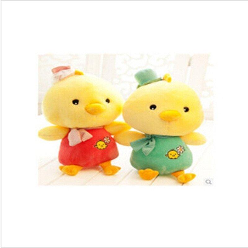 男女圣诞礼物可爱情侣小鸡公仔萌布娃娃小黄鸡玩偶毛绒玩具一对送女