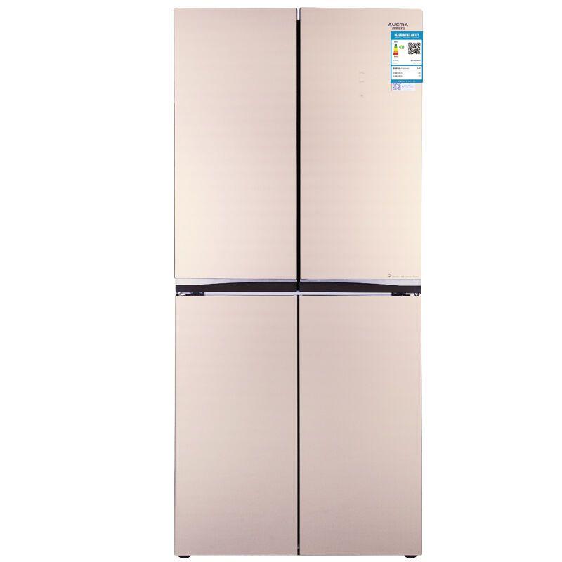 WWW_TXT456_COM_aucma/澳柯玛bcd-456ydg 456升十字对开门冰箱 悬浮玻璃面板(土豪金)