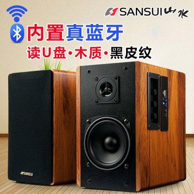 Sansui/山水 GS-6000(62C)電腦音響無線藍牙HIFI2.0臺式低音炮多媒體電視桌面書架木質小音箱