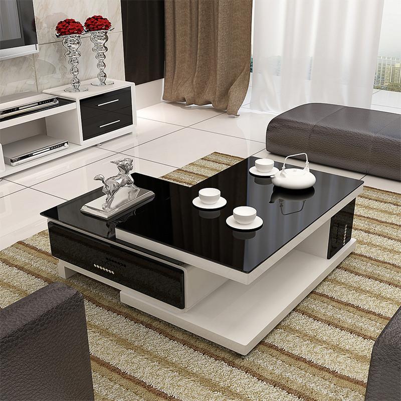 鑫盛雅 现代简约客厅家具套餐 旋转储物茶几 钢琴烤漆