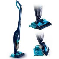 飞利浦(Philips)FC6400立式手持无尘袋无线吸尘器 家用干湿两用擦地机 水蓝色FC6400