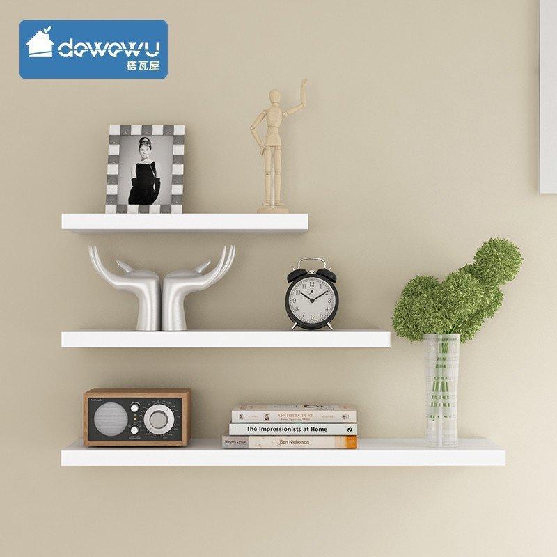 搭瓦屋 简约时尚 创意一字隔板搁板置物架层板架书架图片