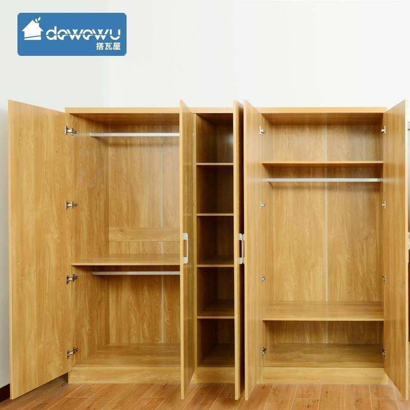 搭瓦屋 臥室家具 簡約木紋現代雙門/三門衣柜 北歐風格家用簡易大容量