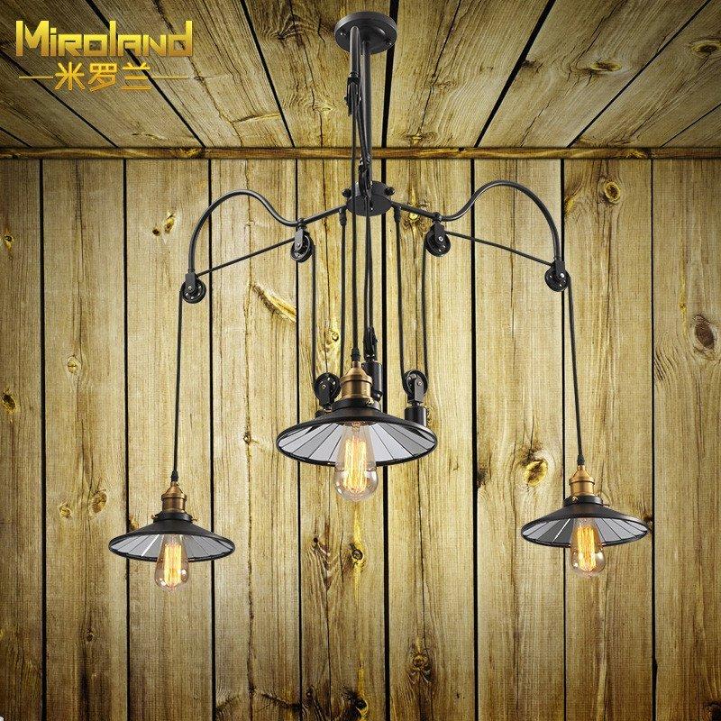 米罗兰 北欧美式复古乡村简约个性创意餐厅卧室可升降图片
