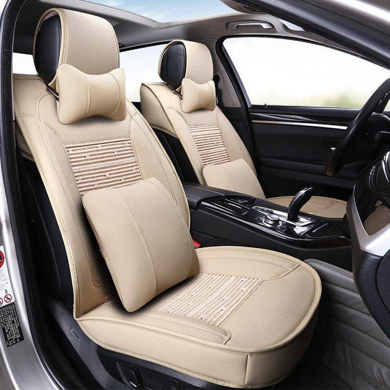 新款汽车坐垫四季通用现代名图朗动索八ix35途胜全包专用皮革座套