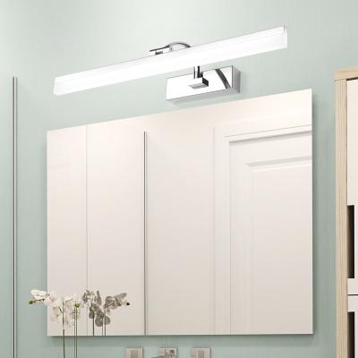 炬勝 現代簡約免打孔LED不銹鋼浴室鏡前燈衛生間臥室壁燈鏡柜防銹防水霧LED鏡前燈自然光(3300-5000K)