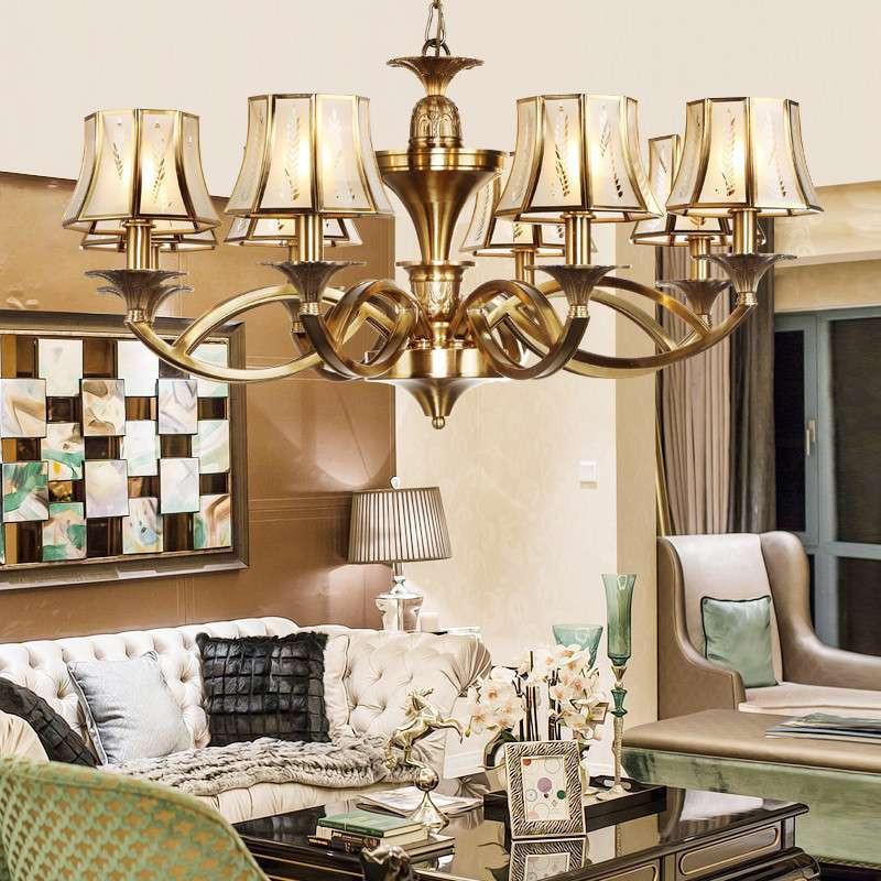 奥朵手工全铜灯 欧式吊灯客厅灯led吊灯具卧室灯餐厅