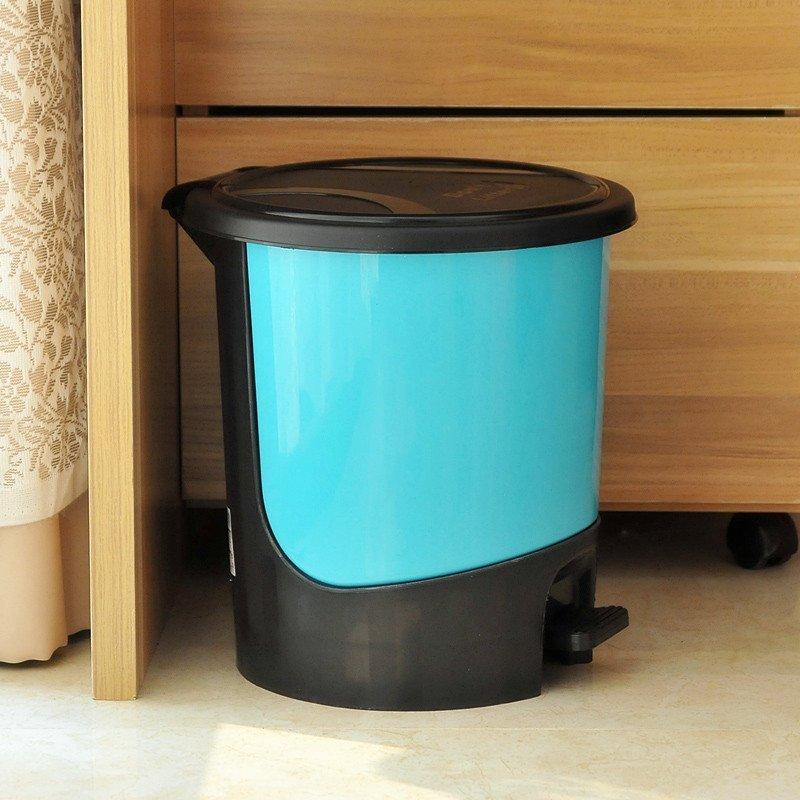圆形脚踏式塑料垃圾桶