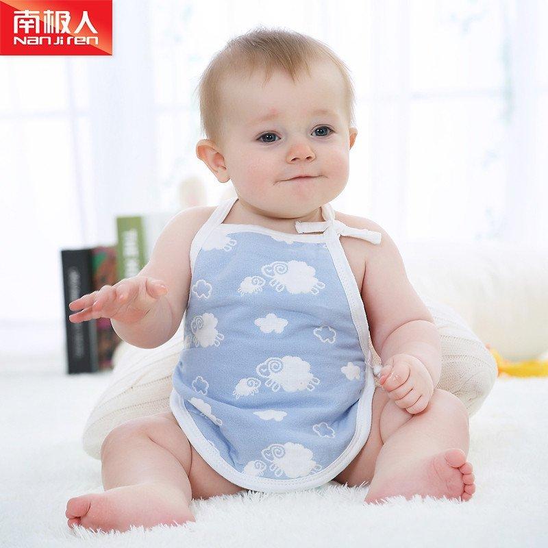南极人婴儿纯棉夏季肚兜薄款宝宝套脚兜兜春秋婴幼儿纱布新生儿