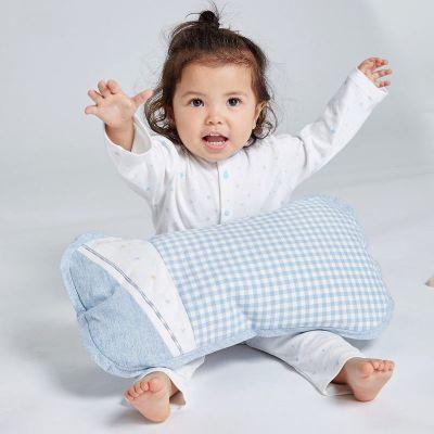 良良 儿童枕头3-6岁幼儿园午睡枕透气防多汗宝宝护型枕定型枕四季