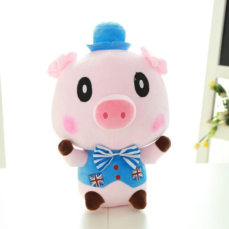 毛绒玩具情侣猪公仔抱枕可爱猪猪玩偶婚庆布娃娃一对男款50cm f