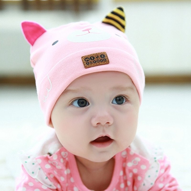 新生儿帽子春秋季婴儿帽子宝宝帽子纯棉套头帽男女胎帽三角巾套装
