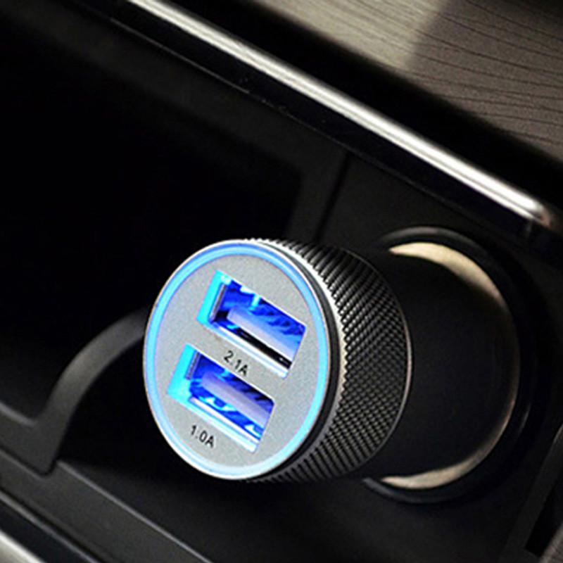 麦车饰 汽车用品车载充电器车载电源点烟器一拖二usb电源线接口 汽车