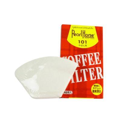 咖啡滤纸 滴漏式咖啡机专用 101手冲过滤纸 纯白 1-2人份/ 40张入