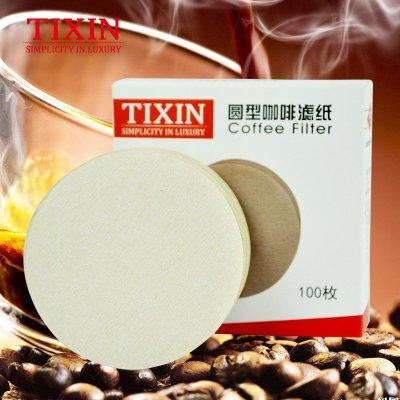 TIXIN/梯信 圆型咖啡滤纸 摩卡咖啡壶专用木质纤维6号过滤纸100枚