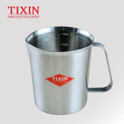 TIXIN/梯信 加厚带刻度304不锈钢咖啡量杯创意杯子宜家用个性水杯 500ml