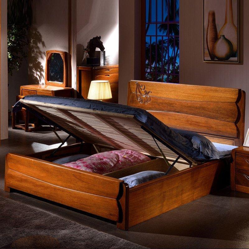 简宁 实木床 北美胡桃木床 简约中式全实木家具卧室双人床 全实木床