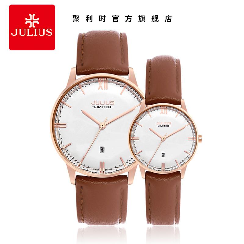 聚利时手表正品时尚潮流商务情侣对表皮带男女手表jal图片