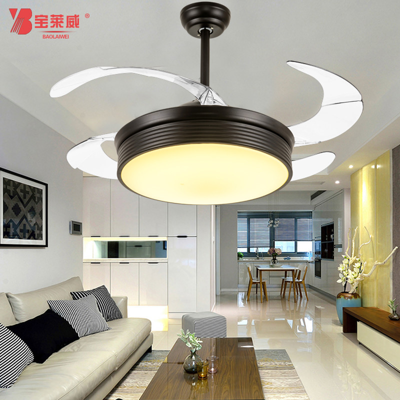 宝莱威隐形吊扇灯风扇灯 带电风扇的吊灯电扇客厅餐厅