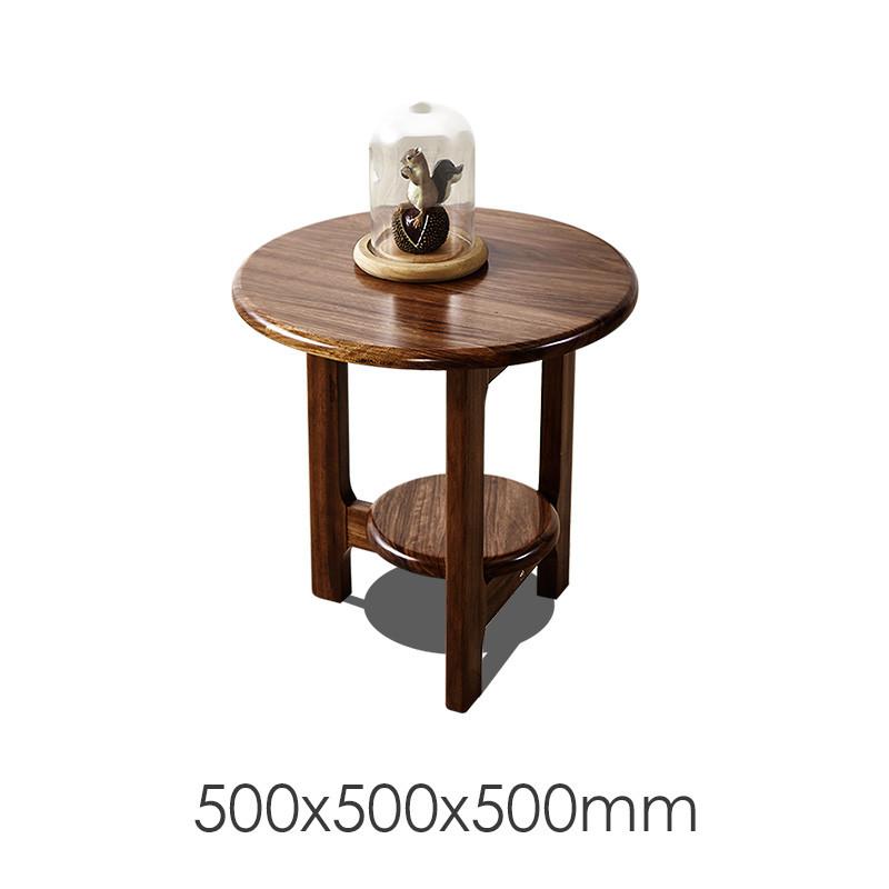 厚皮匠 新中式北欧金丝檀木简约现代椭圆形实木茶几圆
