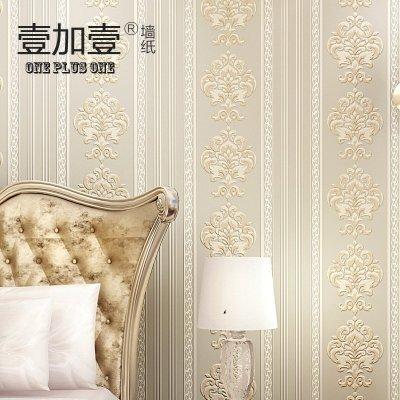 壹加壹欧式竖条纹壁纸 2015年新款3d无纺布墙纸 客厅卧室电视背景