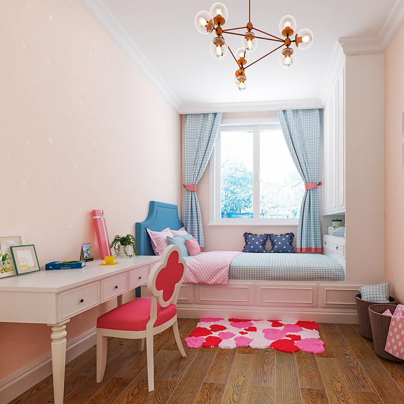壹加壹儿童房壁纸男孩女孩房间蓝色星空墙纸卧室背景墙壁纸星星