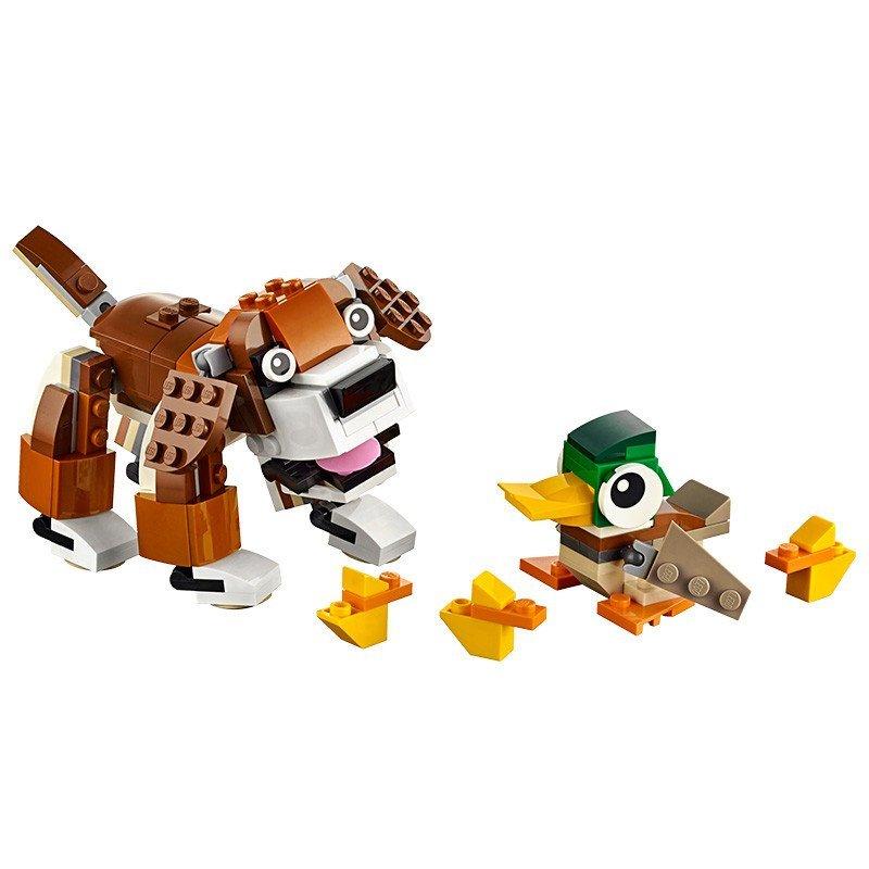 乐高lego创意三合一creator公园动物l31044小颗粒积木