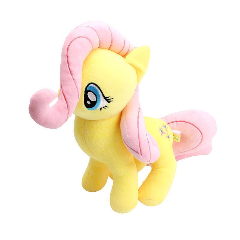 彩虹小马宝莉毛绒玩具 宝丽公主娃娃儿童生日礼物 黄色柔柔 均高40