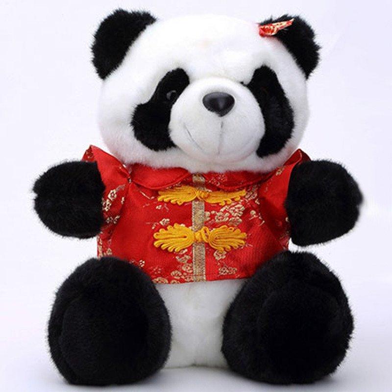 宝诚达 唐装熊猫公仔可爱国宝大熊猫毛绒玩具玩偶婚庆
