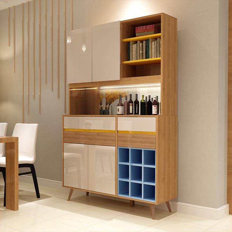 一米爱家具 现代简约酒柜 客厅餐边柜 北欧玻璃酒柜隔断柜储物柜图片