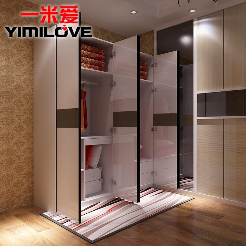 一米愛家具衣柜簡約現代臥室成人大衣柜烤漆平開門坂木整體衣柜b430