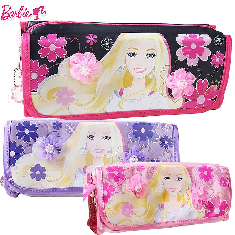 芭比公主女童小学生笔袋儿童文具袋韩版大容量可爱收纳袋铅笔袋8519