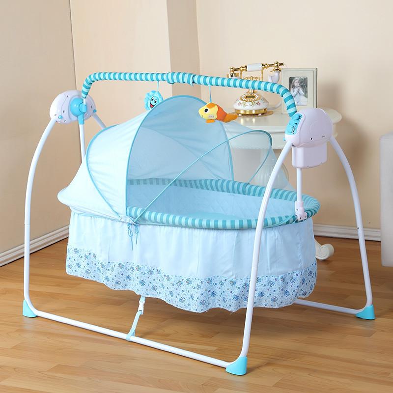 primi电动摇篮床 婴儿摇篮床宝宝摇摇床新生儿自动摇篮床加长