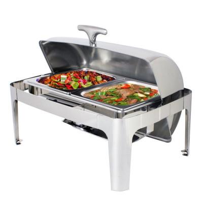 自助餐保温炉酒店早餐炉方形不锈钢餐炉餐具布菲炉翻盖电加热