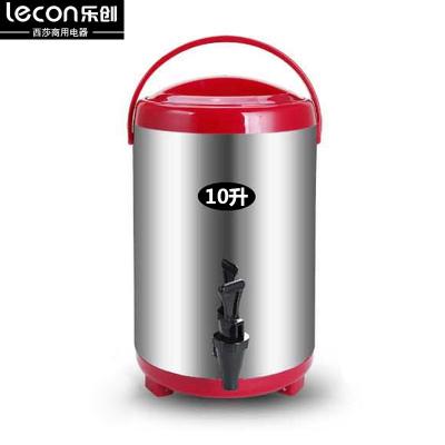 lecon/乐创 10L豆浆桶 保温桶 不锈钢 大容量商用 无网自动豆浆机奶茶桶