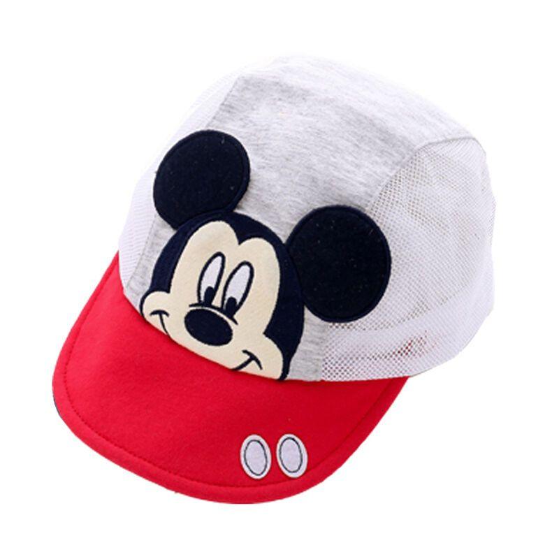 迪士尼宝宝网眼棒球帽 夏季婴儿纯棉帽子 鸭舌帽
