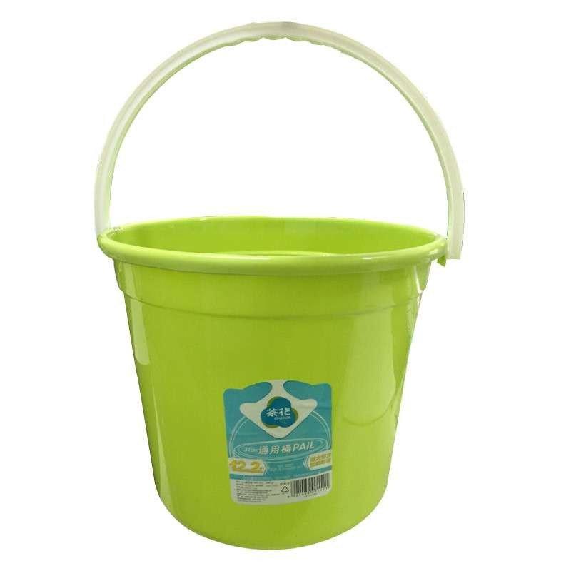 茶花塑料桶家用大号加厚塑料手提水桶无盖小储水洗车