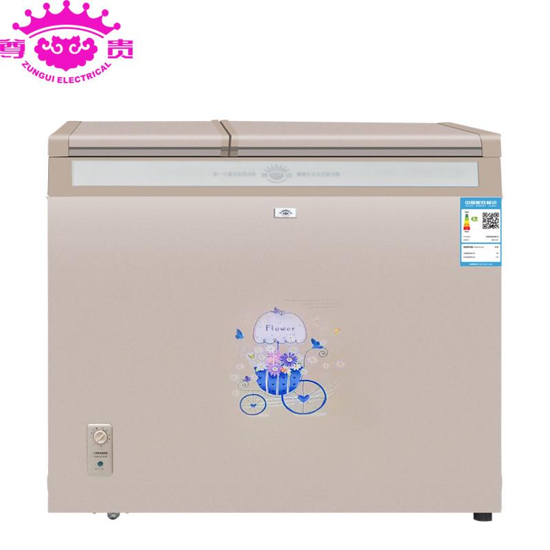 尊贵bcd-231v不锈钢钻石内胆 卧式冷柜 双温冰柜冷藏冷冻冰吧 家用图片