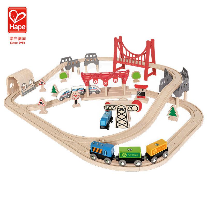 德国hapee3712火车儿童多功套玩具早教适合v火车玩具13个月益智的轨道图片