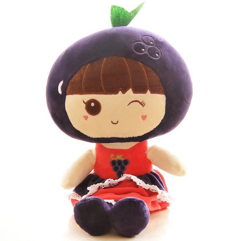 绒言绒语可爱水果娃创意布娃娃毛绒玩具陪睡布偶洋娃娃公仔生日礼物送
