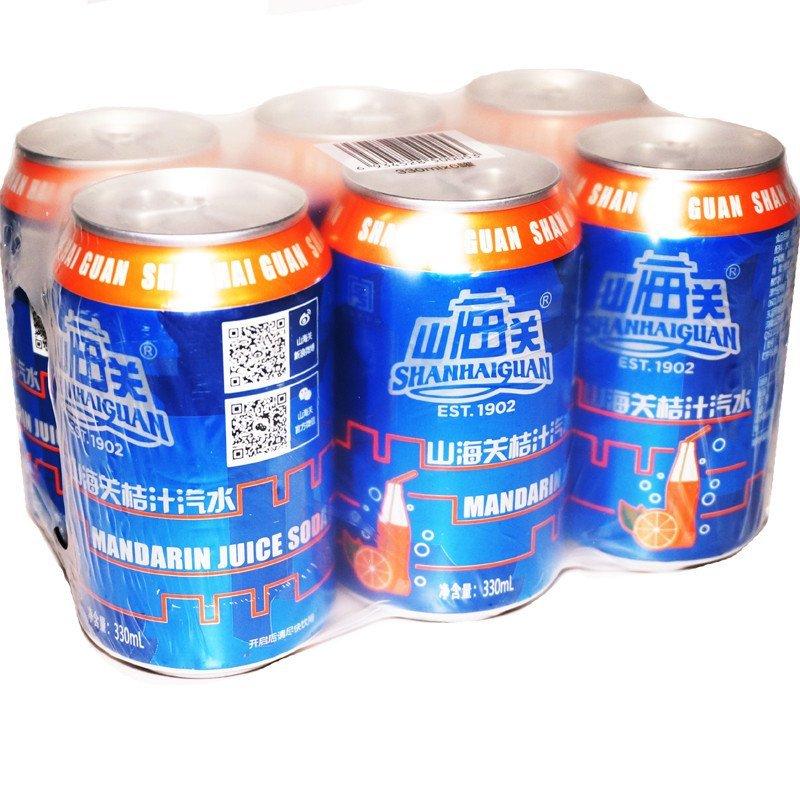 山海关 果汁 果味 碳酸饮料 汽水 330ml*6听