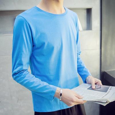 狮臣SHICHEN 2020年新款春季男士长袖T恤修身男装个性圆领T恤装打底衫长袖T恤男 体恤 男