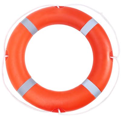 蒙拓嘉 成人救生圈实心船用救生浮圈加厚实心塑料救生圈内河公海专业救生圈 高亮反光条 2.5KG